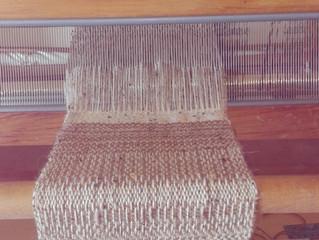 Weaving with Llama Fibre
