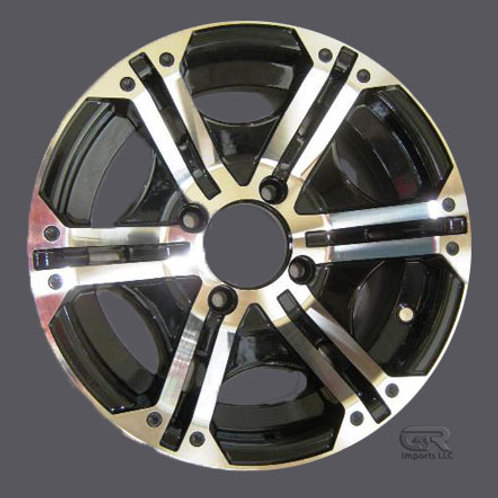 [4 x 110] Black & Machined Aluminum Wheel (1 set)