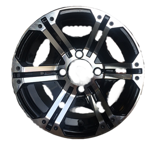 Black & Machined Aluminum Wheel [1 set of 4]