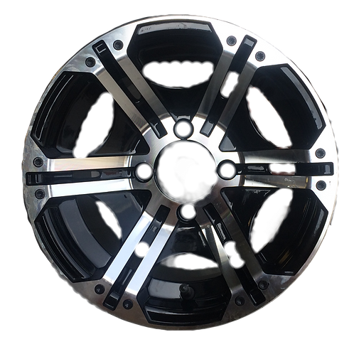 Black & Machined Aluminum Wheel [1 set of 4]
