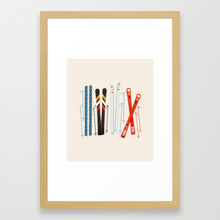 Retro Ski Illustration Giveaway
