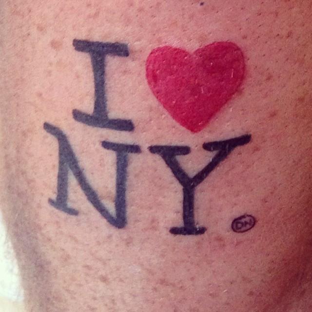 I ❤️ NY #iloveny #nyctattoo #dammnice.jp
