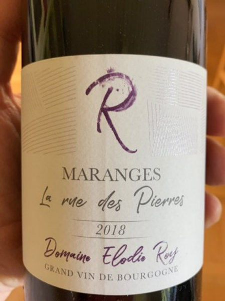 Marange La rue des pierres - Pinot noir - Domaine Elodie Roy