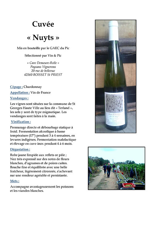 Nuyts - Domaine Vin & Pic - Vin de pays d'Urfée