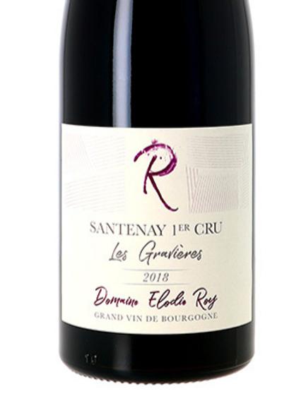 Santenay 1er cru Les Gravières - Pinot noir Domaine Elodie Roy