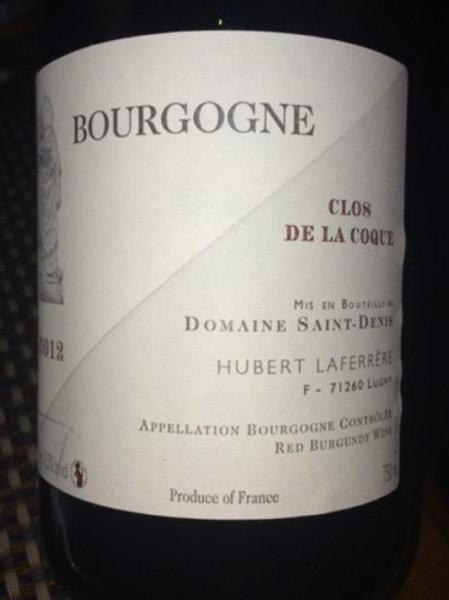 Clos de la Coque - Domaine St Denis - Pinot Noir