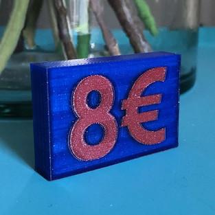 Support de prix 💶💰💷 . Imprimante 3D :
