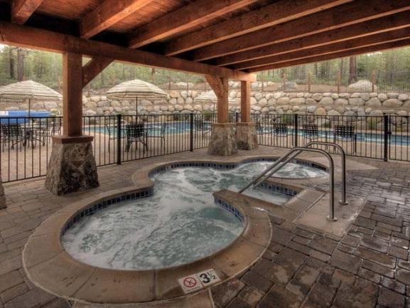 boulders - hot tub