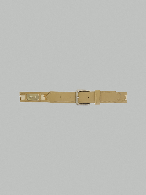 PATCHWORK BELT - [OATMEAL]