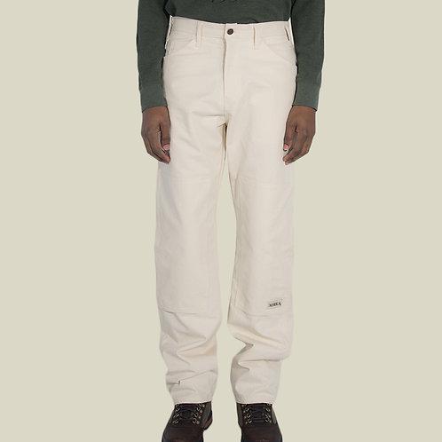 """Purity"" Double Knee Work Pants - Crème"