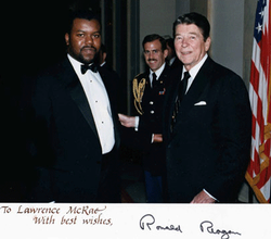 Larry with President Reagan at White House