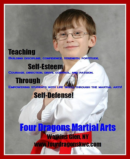 Confidence, self esteem, self defense classes and martial arts for kids and teens at Four dragons marital arts. Black Belt excellence!