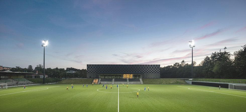 Gentofte Sportspark view from football fields