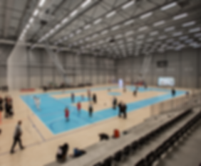 Inside view over courts in Gentofte Sportspark