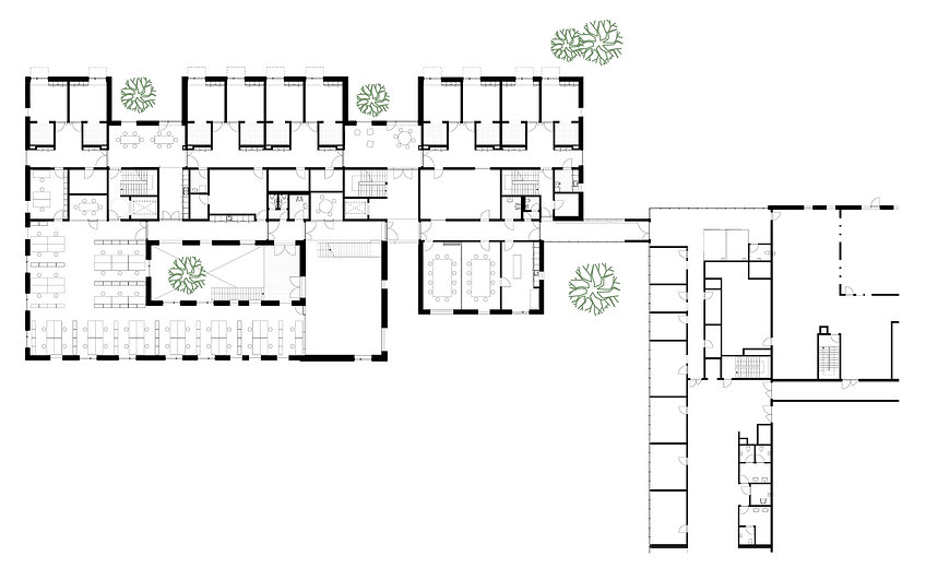 Floor plan, Hillerød Healthcare Centre