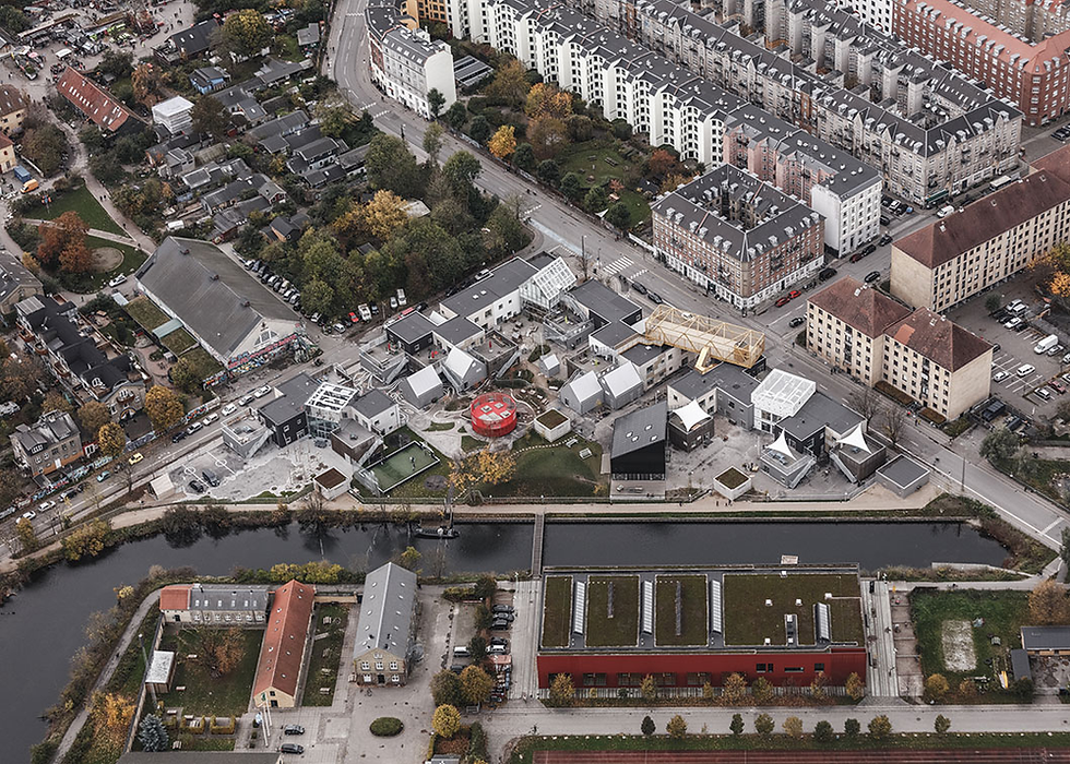 Kids City Daycare centre in Copenhagen, seen from above