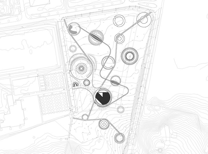 Landscape plan. Bjerringbro House of Natural Science