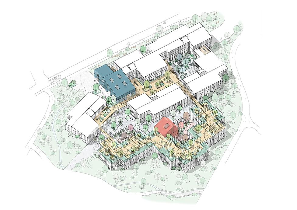 Furuset Hageby Nursing Home for Elderly with Alzheimer. Top view
