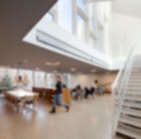 Inside view.  Healthcare centre in Copenhagen