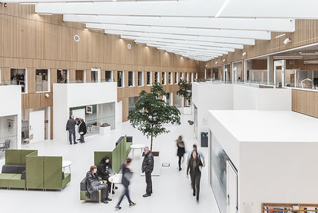 Interior view. Furesø City Hall, Nord Architects