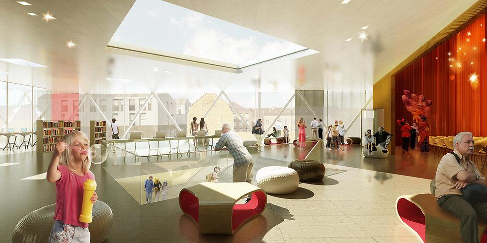 Interior Køge Culture House