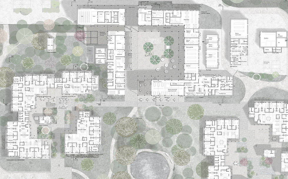 Plan oveview. Carehome for elderly with Alzheimer dementiaan