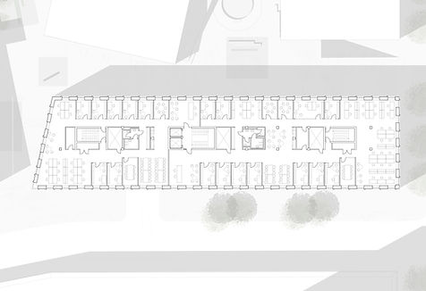 Plan. Offices at Harilds Hus, Carlsberg