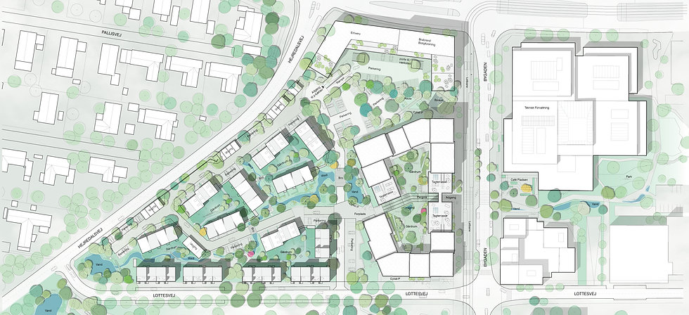 Student housing, Gellerup. Plan