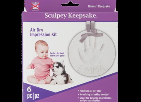 Kit de recuerdo Sculpey para BEBE o Mascota (Secado al Aire)