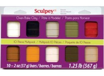 Multipack Sulpey III - 10 colores NATURALES