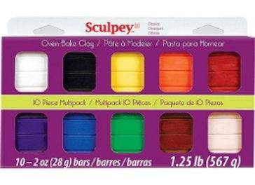 Multipack Sculpey III - 10 colores CLÁSICOS