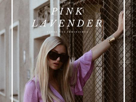 ALL-OVER PINK LAVENDER LOOK + MUSTARD BAG