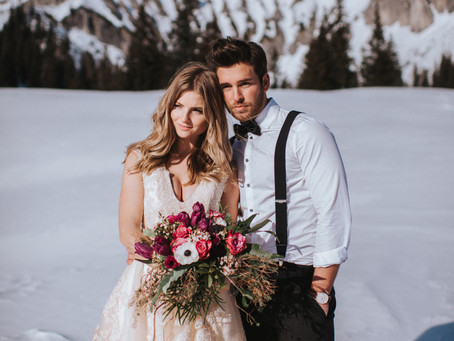 WINTER WEDDING IN THE MOUNTAINS - STYLED SHOOT