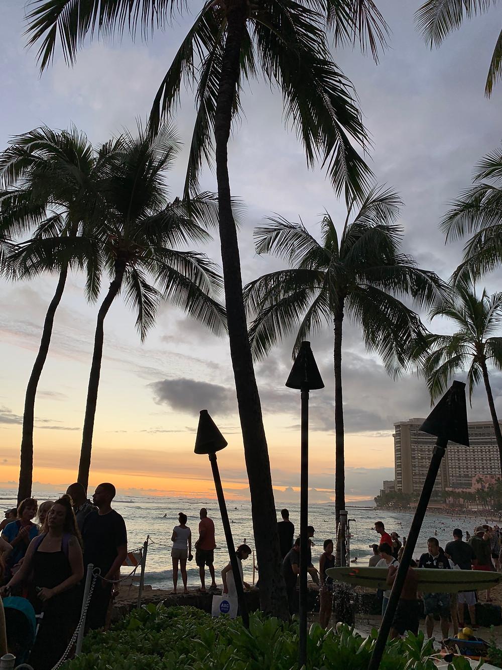 Waikiki Beach - schönste Sonnenuntergänge