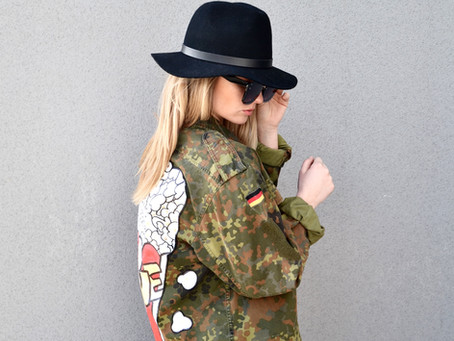WELCOME HOME OVERSIZE ARMY JACKET