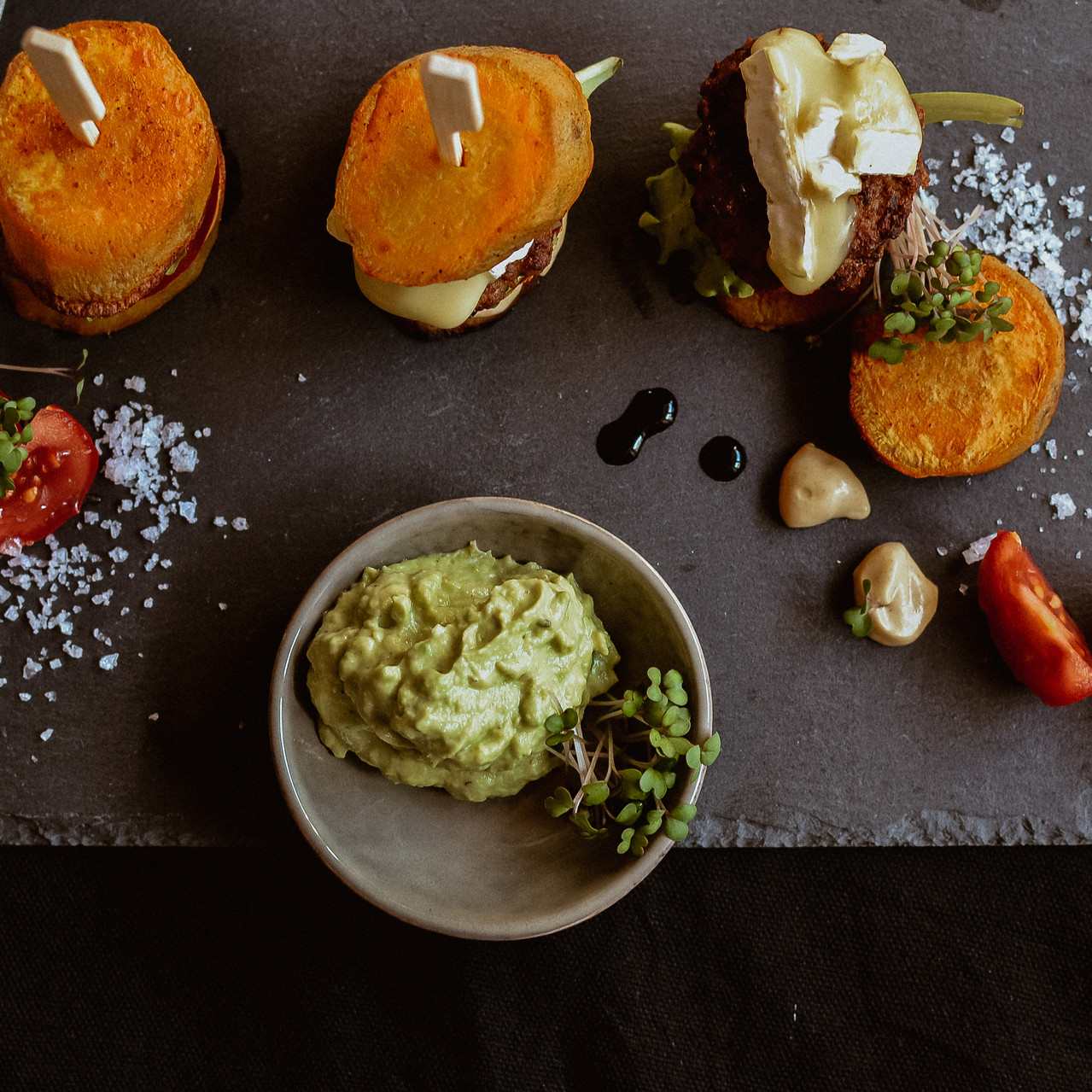 Mini Süßkartoffel-Burger