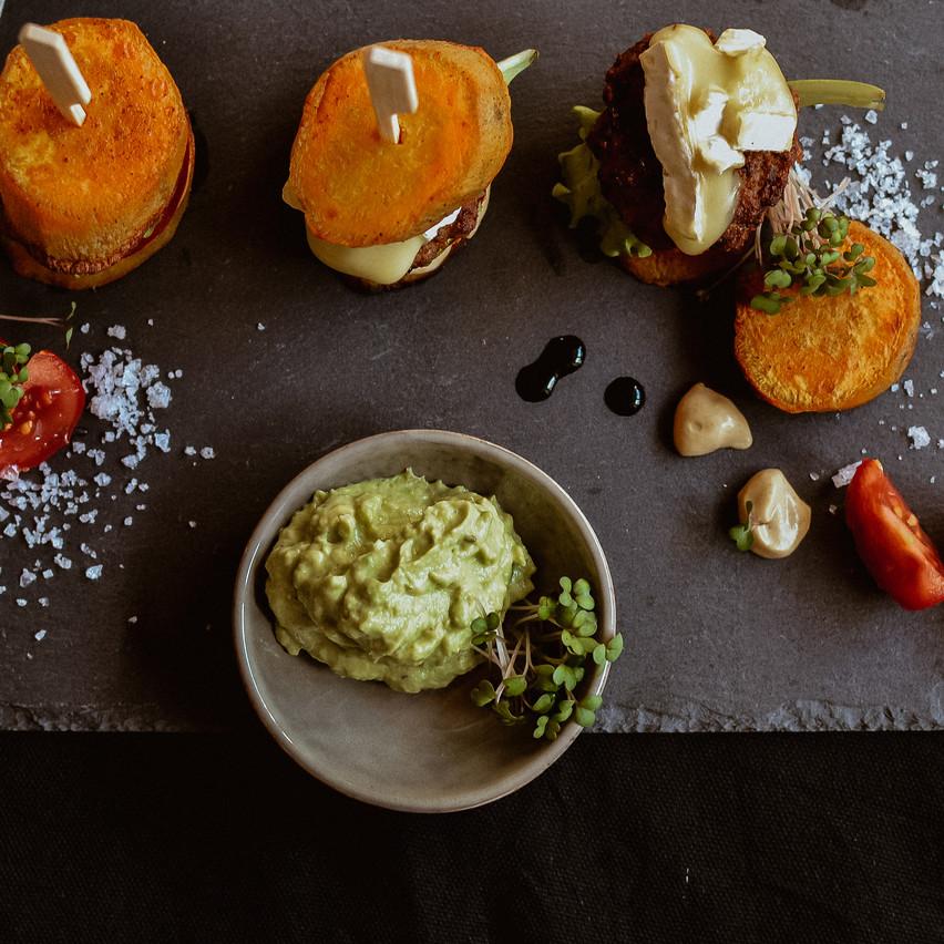Mini-Süsskartoffel-Burger