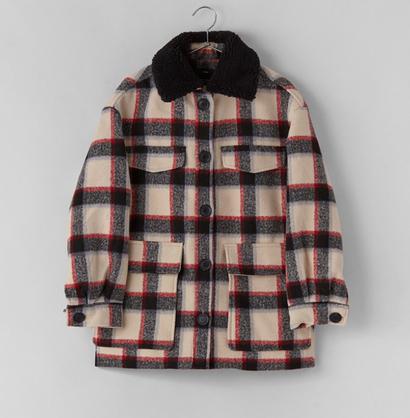 Shearling Collar Jacke