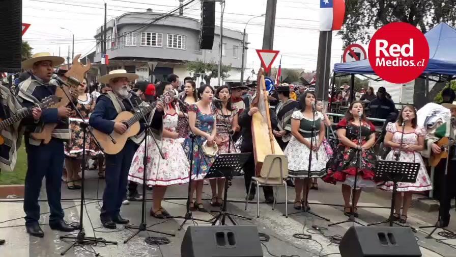 Pitrufquén desfile Fiestas patrias.