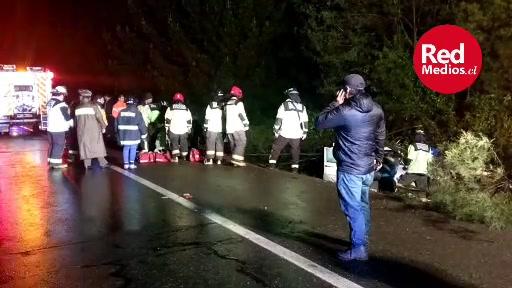⚠️ ¡Reiteramos! Accidente en el km. 710 sentido sur a norte, sector de #Gorbea. Tránsito por pista izquierda, maneje con prudencia. #Ruta5Sur
