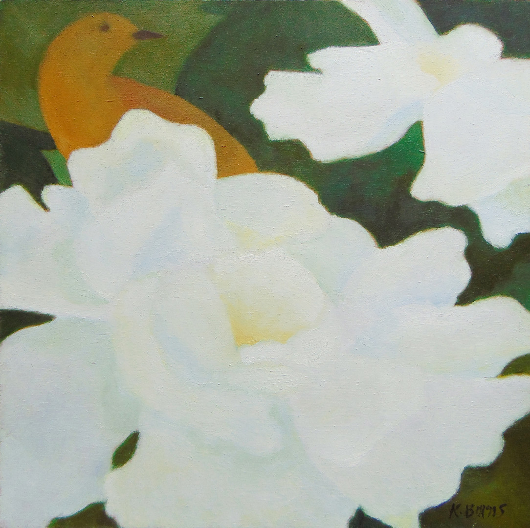 Two Peonies – One Bird