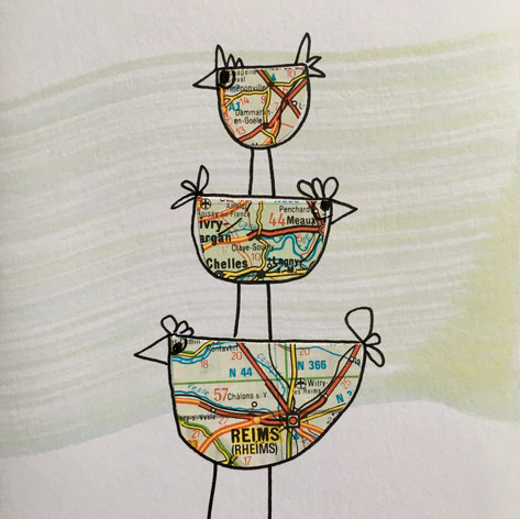 Tower of birds cards