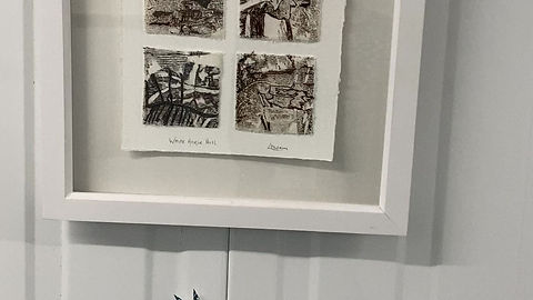 A sneak peak at my pieces in the exhibition.