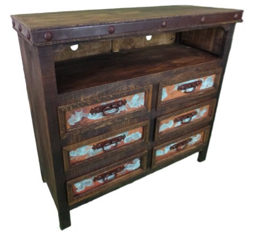 RM COM 04 C/N/MT/D  TV STAND 6 DRAWERS​