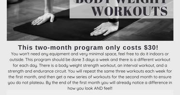 Body Weight Workout Program