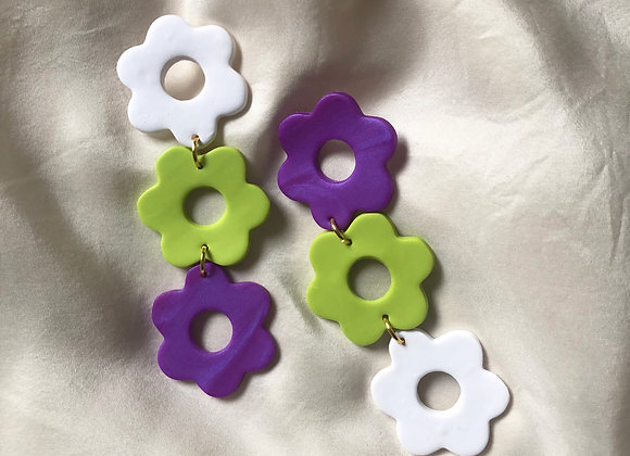 Electric Lime flower dangles