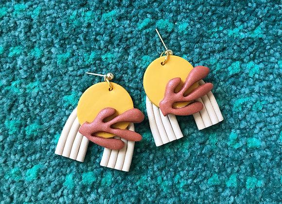 Mod desert earrings