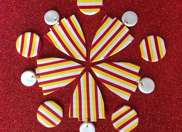 KC Chiefs arrowhead earrings