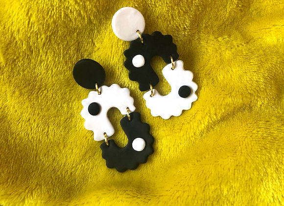Mod Yin Yang earrings