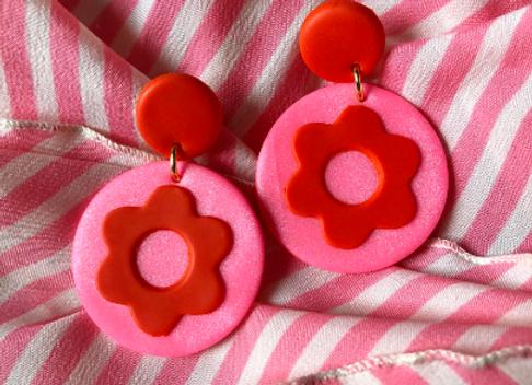 Valentine's Day flower power earrings